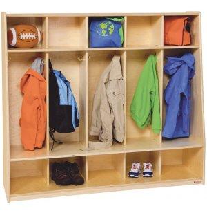 Healthy Kids Tip-Me-Not Preschool Seat Lockers - 5-Section