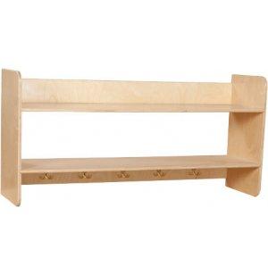 Wooden Wall Locker w/ Shelves