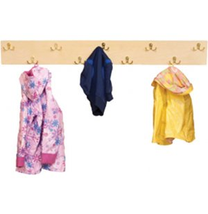 Wall-Mounted Preschool Coat Rack