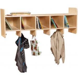 Wooden Wall Locker - 5-Section