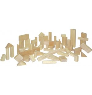 Wood Blocks Basic Set of 56 in 15 Shapes