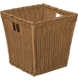 Medium Plastic Wicker Preschool Storage Baskets - Set of 4