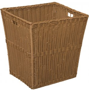 Large Plastic Wicker Preschool Storage Baskets - Set of 4