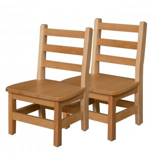 Ladder Back Wooden Preschool Chair Set Of 2 10 Quot H Seat