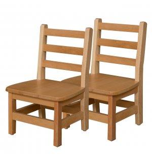 Ladder Back Wooden Preschool Chair - Set of 2
