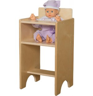 Wooden Doll High Chair Wde 81100 Dramatic Play Furniture