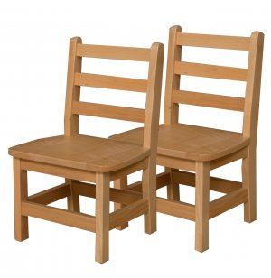 Ladder Back Wooden Preschool Chair - Set of 2