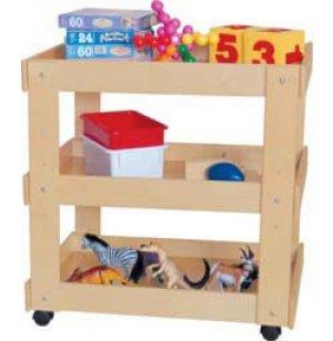 Wooden Classroom Utility Cart