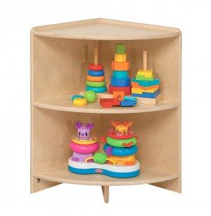 Wooden Mobile Corner Cubby