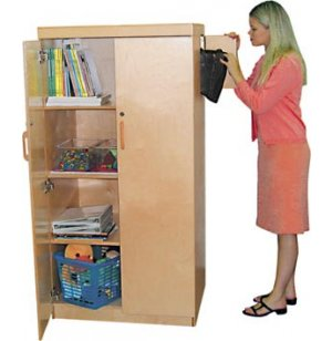 Wooden Teachers Storage Cabinet
