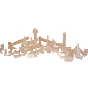 Hardwood Blocks Nursery Set of 93 in 17 Shapes