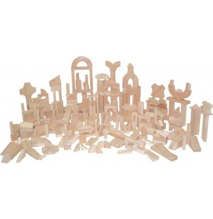 Hardwood Blocks Classroom Set of 372 in 24 Shapes
