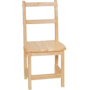 Ladder Back Hardwood Chair Twin Pack