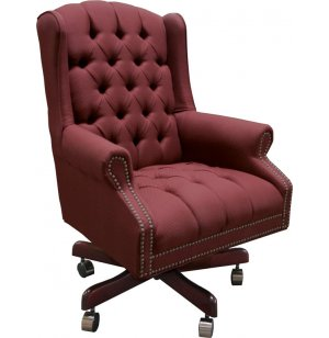 Traditional Fabric Mid Back Executive Chair