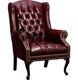 Traditional Leather Guest Chair