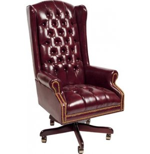 Traditional Leather High Back Executive Chair