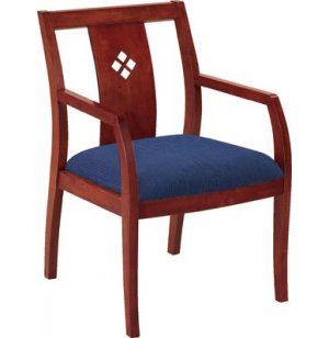 Wood Guest Chair with Wood Back