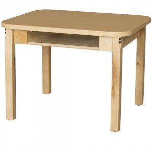 Laminate Student Desk with Hardwood Legs