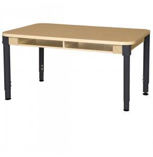 Four-Student Adjustable Laminate Student Desk