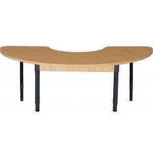 Kidney Adj. Height Laminate Classroom Table