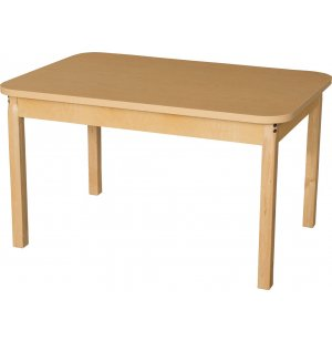 Laminate Classroom Table with Hardwood Legs