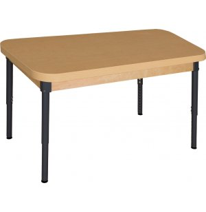 Adj. Height Laminate Classroom Table with Steel Legs