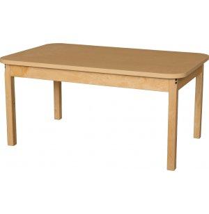 Laminate Classroom Table with Hardwood Legs