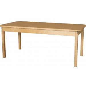 Rectangle Laminate Classroom Table w/ Hardwood Legs