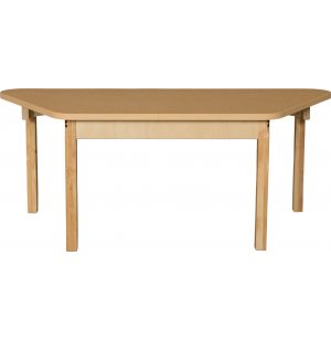 Trapezoid Laminate Classroom Table w/ Hardwood Legs