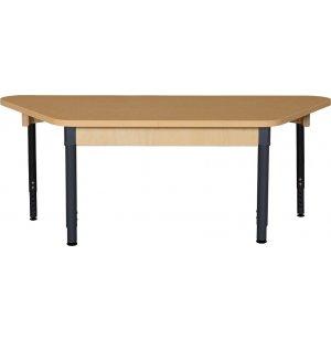Trapezoid Adj. Height Laminate  Classroom Table