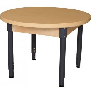 Round Adj. Height Laminate Classroom Table-Steel Legs