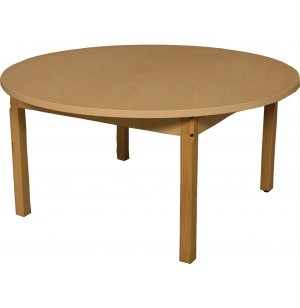 Round Laminate Classroom Table w/ Hardwood Legs