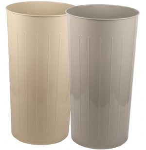 Tall Round Steel Trash Can