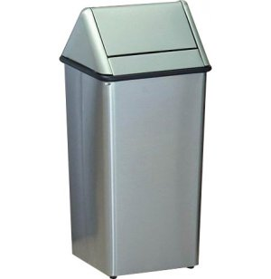 Stainless Steel Swing-Top Trash Can