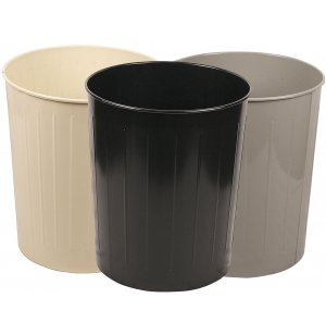 Large Round Steel Trash Can