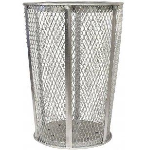 Outdoor Metal Trash Can, Hot-Dip Galvanized
