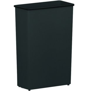 Tall Rectangular Steel Trash Can