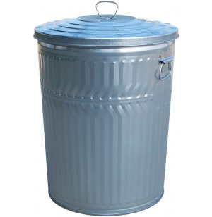 Galvanized Trash Can with Lid