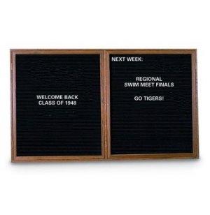 Enclosed Letter Board - 2 Door