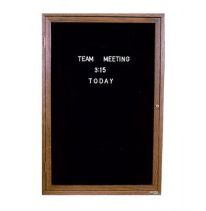 Enclosed Illuminated Letter Board - 1 Door
