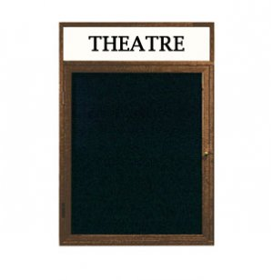 Illuminated Letter Board 1 Door w/Header Enclosed