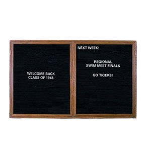 Enclosed Illuminated Letter Board - 2 Door