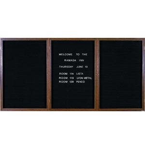 Enclosed Letter Board - 3 Door