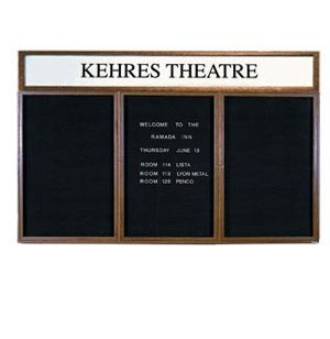 Illuminated Letter Board 3 Door w/Header Enclosed
