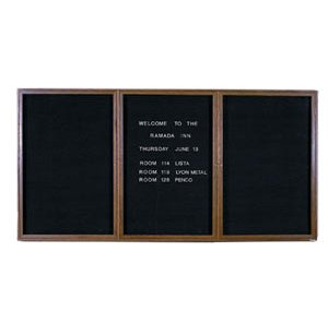 Enclosed Illuminated Letter Board - 3 Door