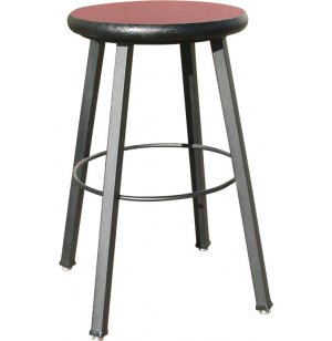 WB Welded Metal Lab Stool with Laminate Seat