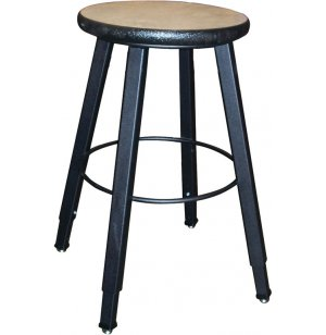 WB Adjustable Welded Metal Lab Stool- Laminate Seat