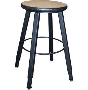 WB Adjustable Welded Metal Lab Stool- Laminate Seat