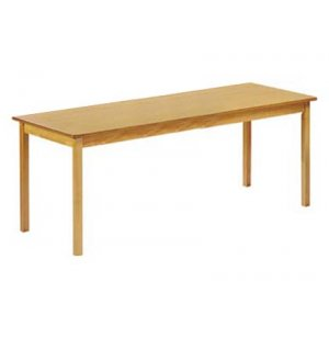 Rectangular Library Wood Table