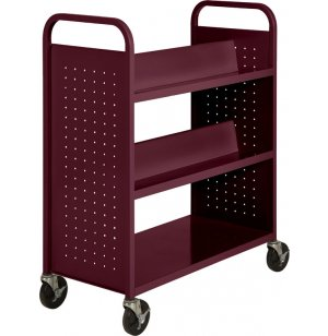 Double Sided Top-Sloped Book Cart